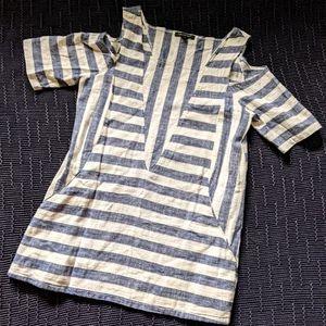 Linen Cold Shoulder Tunic
